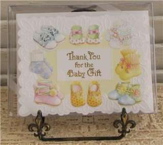 Carol Wilson THANK YOU BABY GIFT Boxed Set 8 Note Cards 095372171205