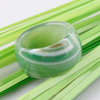 Type Nature Translucent Smoky Green Gemstone Jade Agate Charm Rings