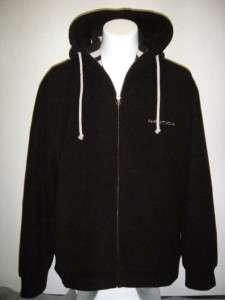 NWT NAUTICA Mens LARGE Fleece Full Zip Sherpa Lined Hoodie Jacket