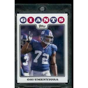 2008 Topps # 207 Osi Umenyiora   New York Giants   NFL Trading Cards
