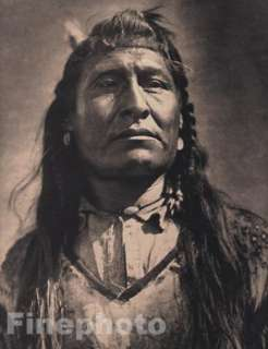 1900/72 Native American Indian Warrior, EDWARD CURTIS