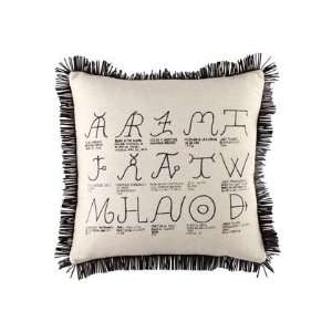 Fringed Pillow with Cattle Brands 20Sq:  Home & Kitchen