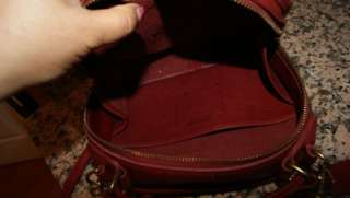 vintage COACH RED LUNCH BOX CONVERTIBLE SHOULDER BAG PURSE