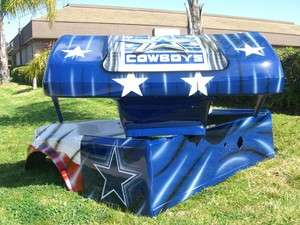 club car DS CUSTOM NFL DALLAS COWBOYS AMERICAN FLAG GOLF CART BODY