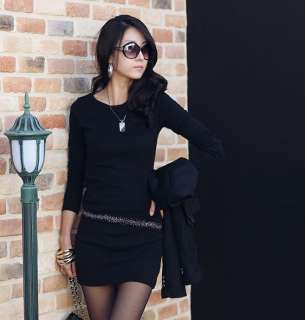 New Sexy Korea Women Long Sleeve Casual Mini Dress 70#