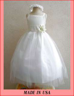 NEW IVORY FLOWER GIRL PAGEANT WEDDING SUMMER DRESSES