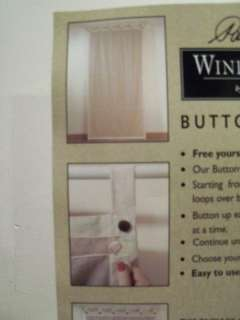 BUTTON UP BLIND WINDOW TREATMENT CURTAIN DRIFTWOOD