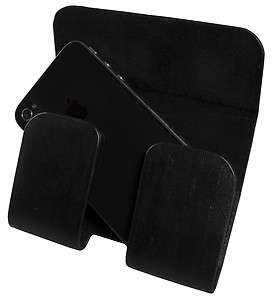 XGear iPhone 4 Black Leather Premium Hip Holster Carrying Case Pouch