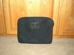 COACH BLACK NYLON LAPTOP CASE SLEEVE #70130
