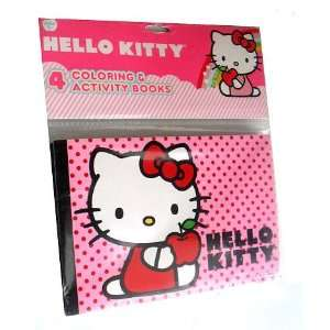 4 Hello Kitty Party Favor Coloring & Activity Books Toys
