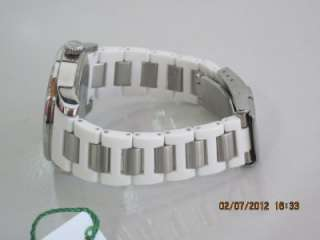 Lacoste Womens White Plastic Bracelet Crystal White Dial Advantage