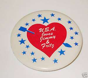 Campaign pin pinback button political JIMMY CARTER 1976