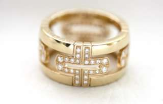 Bvlgari 18K Yellow Gold Diamond Parentesi Cutout Ring
