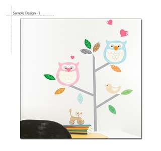 TREE & OWLS   Nursery Childrens Wall Decor DIY Sticker