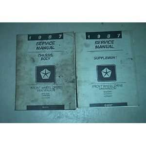 1987 Dodge Ram Van Wagon Service Repair Manual Set
