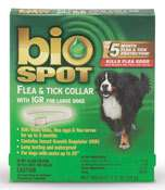 Bio Spot Flea & Tick Collar w/GRI for Large Dogs   Up to 5 Months