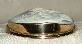 Scenic Rebecca at the Well Shell Cameo High 12k Gold Bezel L@@K