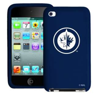 Winnipeg Jets Silicone 4th Generation iPod Touch Case   Navy Blue