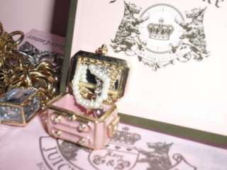 Juicy Couture 6 Charm Charmed Bracelet Gold Plated Watch NWT $495 RARE