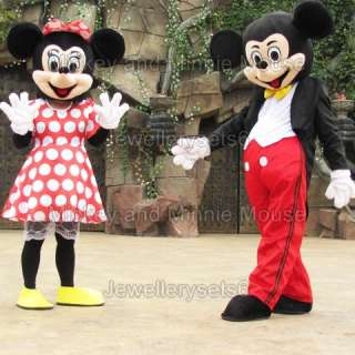 Adult Mickey Minnie Mouse couple Mouse mascot costumes