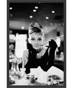 Audrey Hepburn   Breakfast at Tiffanys Framed Textured Art