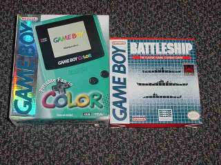 Nintendo Game Boy Color Teal Handheld In the box & game 0045496710804