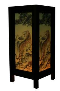 OLD DESIGN ASIAN ORIENTAL TIGER TABLE LAMP