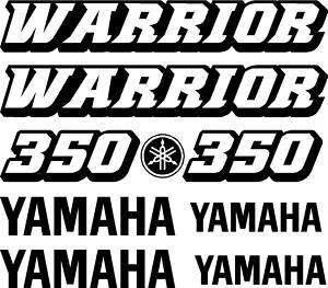 Yamaha 350 Warrior Decals ATV Stickers Graphics decal