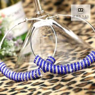 BK30 HOT Basketball Wives Circle Hoops Earring Fashion Jewelry Beads