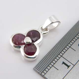 Genuine Red Ruby Gemstone 925 Sterling Silver Earring Pendant Set