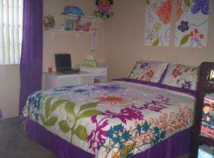 Multi Floral Bed in a Bag Bedding Set Twin Full Queen