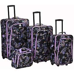 Rockland Garden Expandable 4 piece Luggage Set