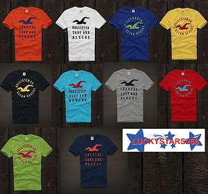 Hollister By Abercrombie Men Short Sleeve T   Shirt Graphic Tee Top