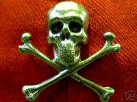 Gothic Skull Biker Pirate Jolly Roger Hat Vest Pin Sold only as