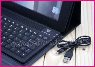 Wireless Bluetooth Keyboard With Leather Black Case Stand Cover for