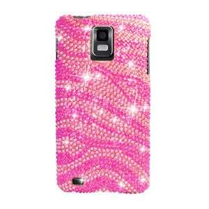 HOT PINK ZEBRA BLING HARD CASE FOR SAMSUNG INFUSE I997