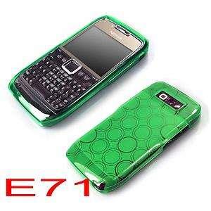 Green Soft Circle Gel Skin Cover Case For Nokia E71 E 71