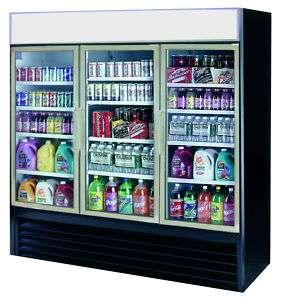 Dual Temp Three Swing Glass Door Refrigerator, Freezer