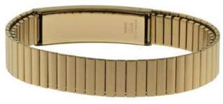 Stainless Steel or Gold Plated Medical Alert ID Bracelet