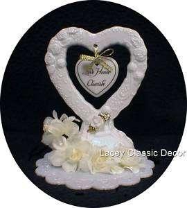 Love Honor Cherish Wedding Cake Topper 50th anniversary