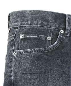 Calvin Klein Jeans Mens 5 Pocket Black Jeans  Overstock