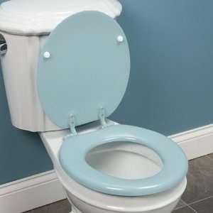 Round Retro Wood Toilet Seat   Dresden Blue