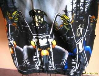 Mens XL Black BIKER Dogs riding motorcycles Cycles Choppers Bowling