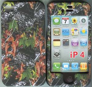 Camo Leaves Gr Apple Iphone 4 , 4S Hard Case Cover Snap on Cover