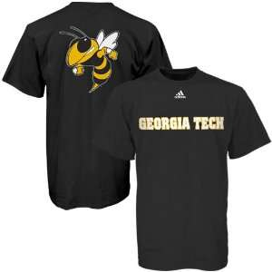 adidas Georgia Tech Yellow Jackets Black Prime Time T