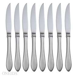 Oneida Jackson Stainless Steel Steak Knives (Set of 8)  Overstock
