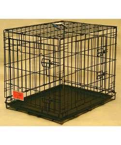 Double Door Medium 30 inch Folding Dog Crate Cage