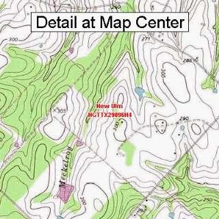 USGS Topographic Quadrangle Map   New Ulm, Texas (Folded