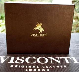 WALLET soft REAL LEATHER multi colour *GIFT* VISCONTI BNWT
