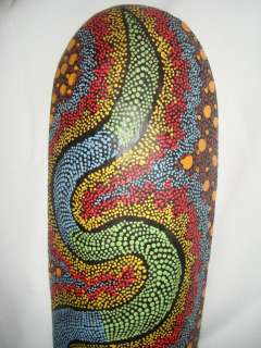 40 Bali Hand Painted Tiki Lombok Mask Green Snake ART